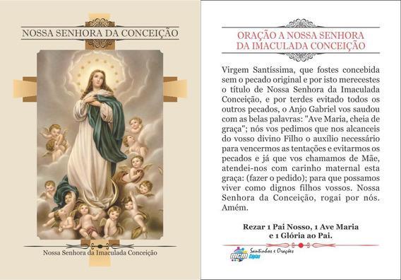Nossa Senhora Da Conceição (500 Santinhos) Frete Grátis