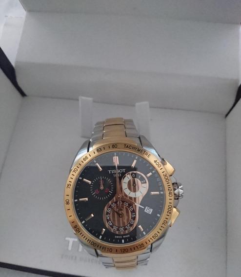 Relógio Pulso Tissot Sapphire Crystal Dourado-aço