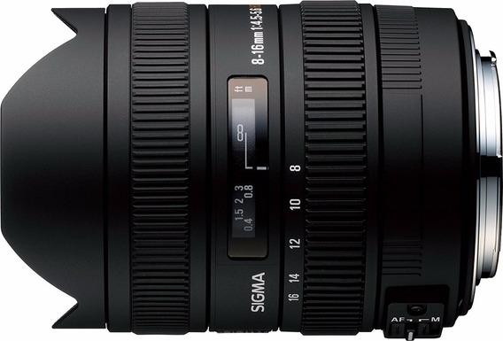 Lente Ojo De Pez Autofocus Sigma 8-16mm F/4.5-5.6 Dc Hsm Nik