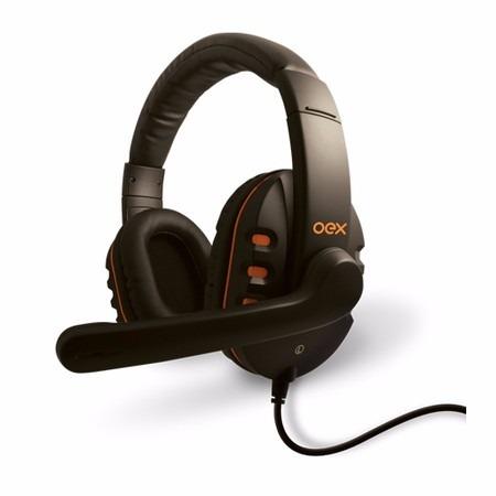 Oex Headset Action Com Microfone Hs-200 Preto/laranja