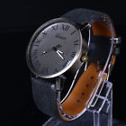 Reloj Hombre Rustico Fondo Oscuro Nros Romanos