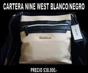 Cartera Nine West Blanco Con Negro