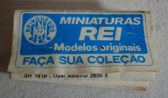Carros Brinquedos Rei Miniaturas Folheto Propaganda Antiga