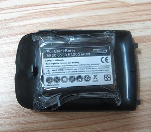 Imagen 1 de 6 de Bateria Doble Capacidad Para Blackberry Curve 8520 Con Tapa