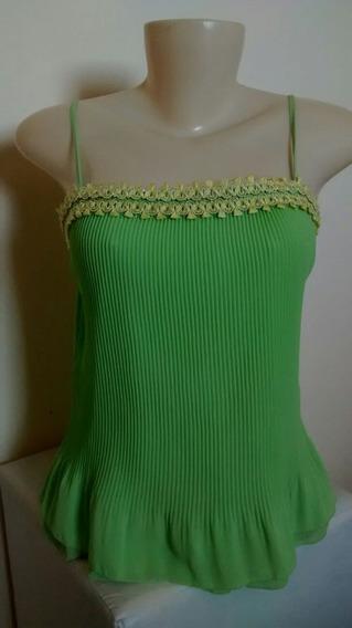 N56 Blusa De Alças Verde Tam P.