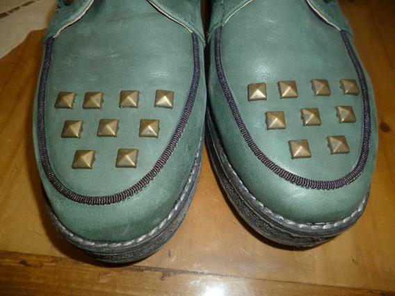 Zapatos Tachas Acordonados Basement