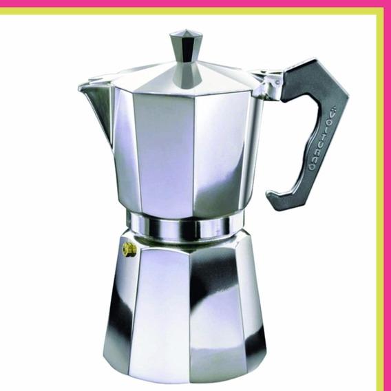 Cafetera Express Volturno Classica Aluminio 9 Pocillos
