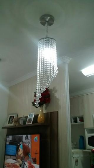 Lustre Cristal Pendente Para Sala,quarto E Cozinhas D001