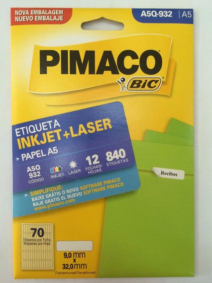 Etiqueta Pimaco A5q-932 Com 12 Folhas Pimaco C/1 Unidade.