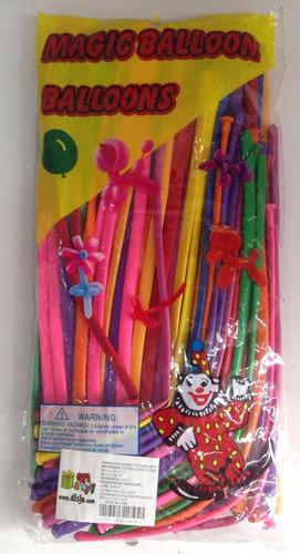 Paquete De Globos Mil Figuras X100 Fiestas Sorpresas Piñatas