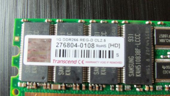 Kit 4 Unid Memória Pc2100r Transcend 1gb Ddr266 Reg-d Cl2.5