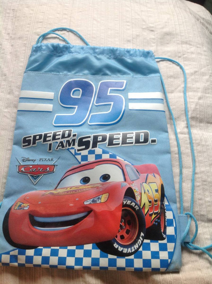 Mochila Original De Disney Store Cars Para Nene Imp.