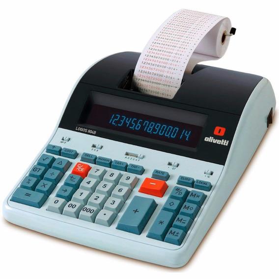 Calculadora De Mesa Logos 804b -14 Dígitos, C/ Bobina,bivolt