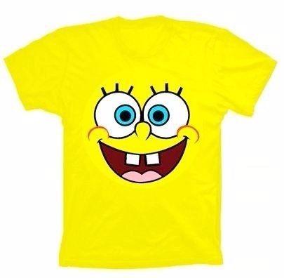 Camisetas-bob Esponja-adulto-tam M-cor Amarela-sku:bedfrclnt
