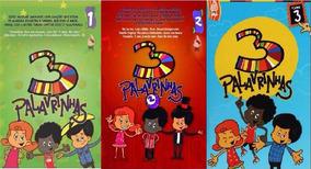3 Palavrinhas - Dvd Infantil Volume 1,2,3,4 - Super Promoção