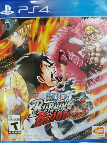 One Piece Burning Blood Ps4 Nuevo Sellado Delivery