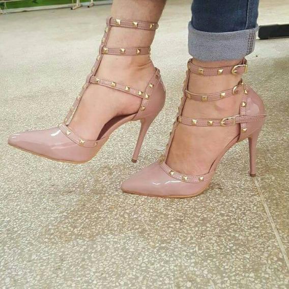 Sapatos Femininos Salto Alto Scarpin Rose