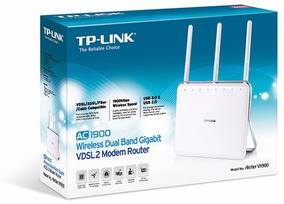 Roteador Modem Tp-link Archer Vr900 Ac1900 Mbps Adsl 2 Vdsl2