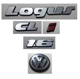Kit Emblemas Volkswagen Logus Cl I Vw Mala 1.6 91 À 97 Brind