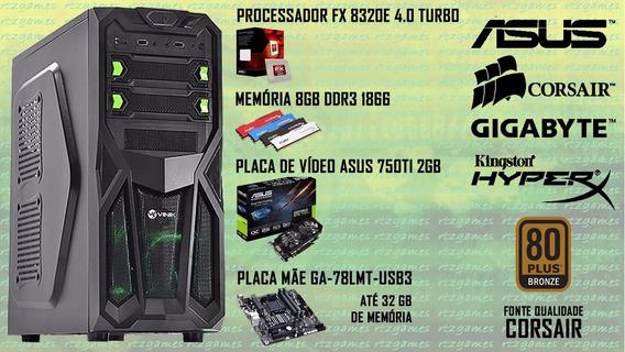 Pc Gamer / Fx 8320e / 8 Gb Ddr3 1866 / Gtx 750ti / Hd 500 Gb