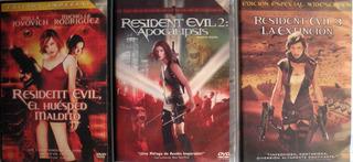 Dvd - Resident Evil 1,2 Y 3 Importadas Brasil