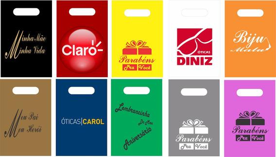 Sacolas Plásticas Personalizada 500 Unid. 30x40 Promoção