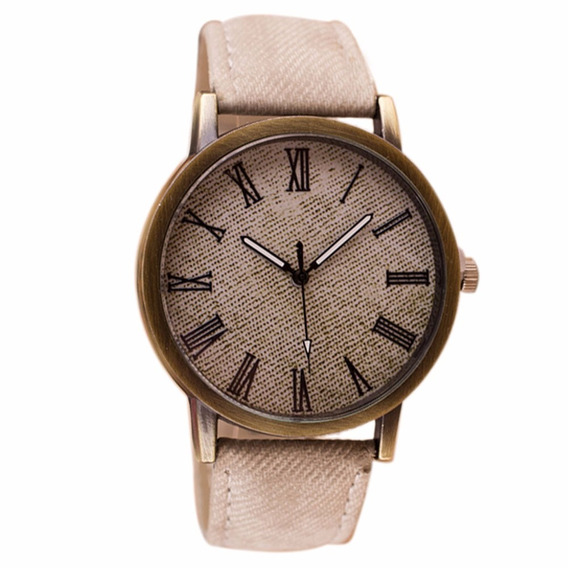 Relógio Analógico Unisex Branco Clássico Bonito E Barato