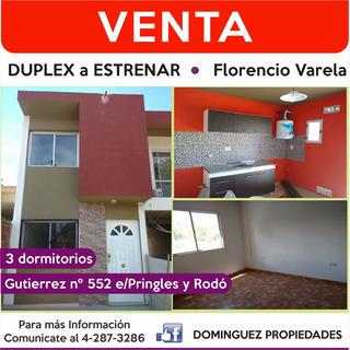 Venta De Duplex A Estrenar - Florencio Varela Centro