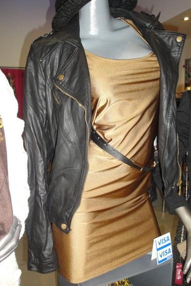 Vestido Mini En Tricot ( Tela Malla) Basico Talle Unico
