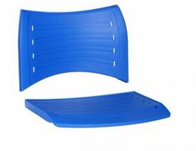 Assento E Encosto Para Cadeira Iso Fixa Giratoria Azul