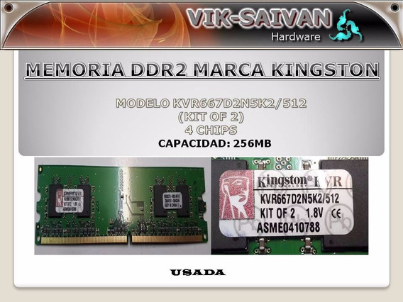 Memoria Ddr2 Kingston De 256mb Pc2-5300 667mhz 4 Chips 29