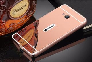 Capinha Bumper Metal Espelhada Nokia Lumia 640+1 P/vidro