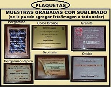 Plaquetas Premios Vitrinas Medallas Trofeos Copas Grabados