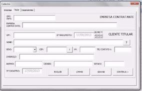 Planilha Excel Para Cadastro De Empresa/clientes/dependentes
