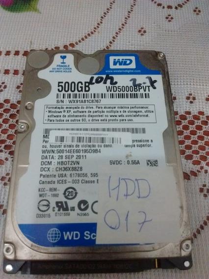 Placa Hd Western Digital Wd5000bpvt - 017