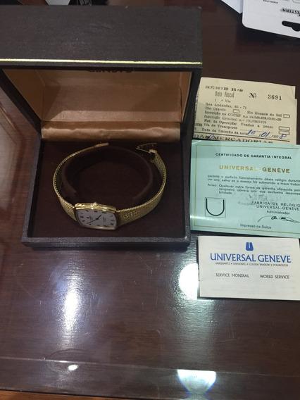 Relógio Universal Geneve Em Ouro Maciço