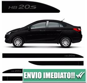 Jogo Friso Lateral Hb20s 2015 4peças Preto Onix Cor Original