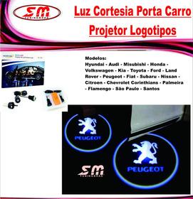 Luz De Cortesia Projetor Logomarca Peugeot 206 207 208 106
