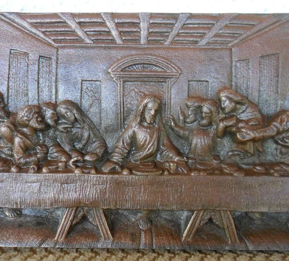 Santa Ceia Antiga Arte Sacra Bronze Maciço - Irrepreensivel!