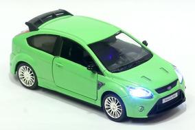 Miniatura Ford Focus Rs 2009 Verde Com Luz E Som