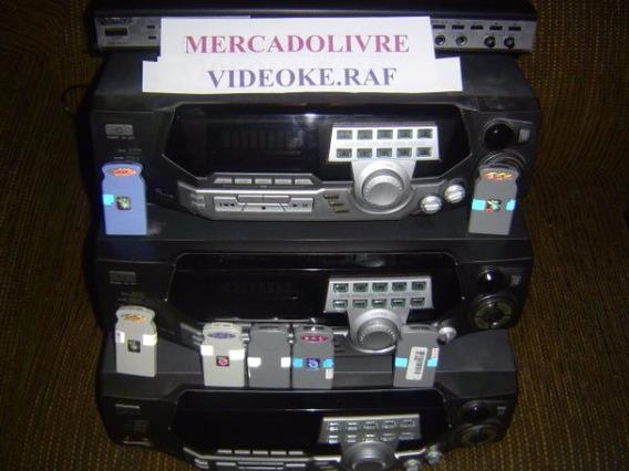 Videoke Raf 3700 Completo 6 Mil Canções 2 Microfones Troco