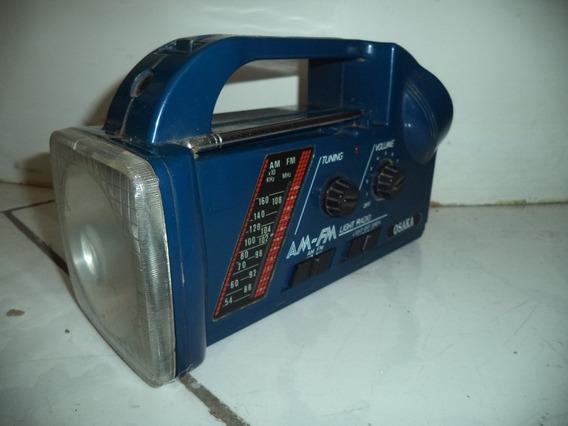 Rádio Portátil Lanterna Osaka/rádio Antigo/lanterna Antiga