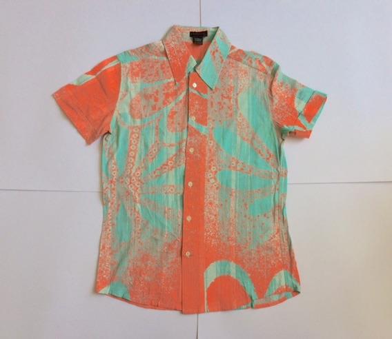 Camisa Custo Barcelona Con Estampado Manga Corta Talla 1