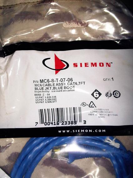 Patch Cord Siemon Categoria 6 Azul