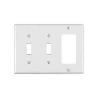 Leviton 80421-w-2 Toggle-1 Decoros / Gfci Placa De Pared Com