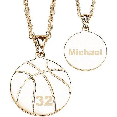 Collar Personalizado Del Baloncesto 14k Chapado En Oro