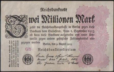 Alemania 2000000 Mark 9 Ago 1923 P104c