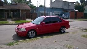 Honda Civic Vti 1999 Sedan Rojo