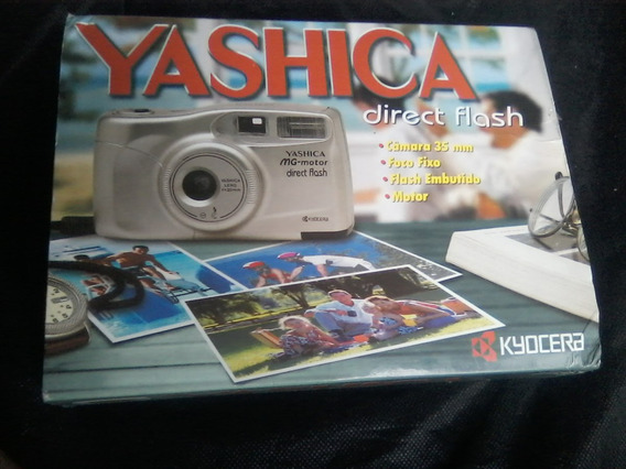Camera Yashica Direc Flash Mg Motor Na Caixa Excelente