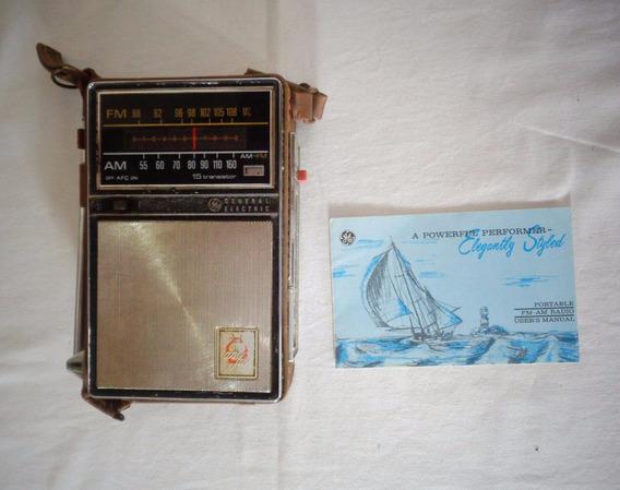 Rádio General Eletric Am Fm Pilha Número Rs-4520 Antigo